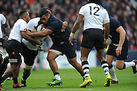Mako Vunipola of England in action during the Old Mutual Wealth Series match between England and Fiji at Twickenham Stadium on Saturday 19th November 2016 (Photo by Rob Munro)