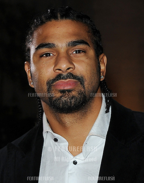 David Haye arriving for the Children's Championship Awards, London. 03/03/2010  Picture by: Simon Burchell / Featureflash
