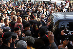 Egyptians mourners attend the funeral of the Egyptian journalist Mohamed Hassanein Heikal at the al-Hussein mosque in Cairo on February 17, 2016. Heikal, one of the Arab world's most prominent political commentators and a former adviser to president Gamal Abdel Nasser, died on February 17 aged 92. Photo by Amr Sayed