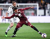 Giorgio Chiellini of Juventus , Alejandro Berenguer of Torino <br /> Torino 3-5-2019 Allianz Stadium Football Serie A 2018/2019 Juventus - Torino <br /> Photo Matteo Gribaudi / Image Sport / Insidefoto