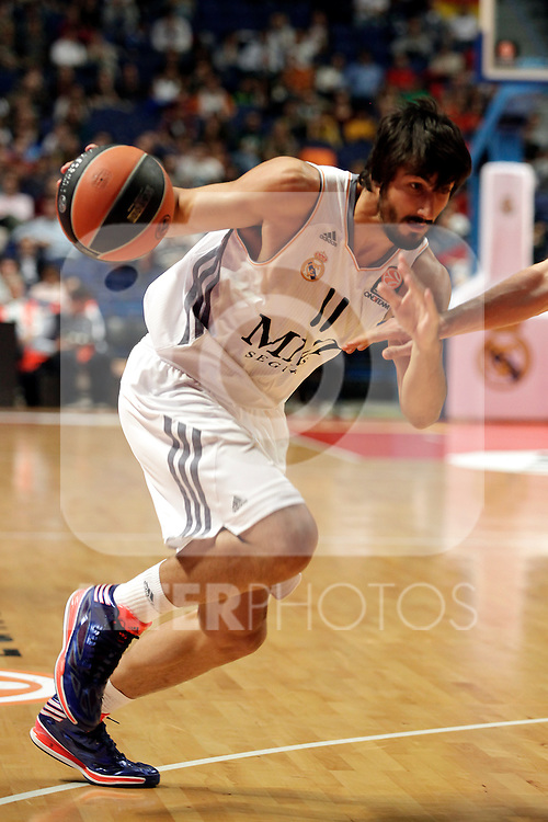Real Madrid´s Diez during Euroleague Basketball match. November 01,2013. (ALTERPHOTOS/Victor Blanco)