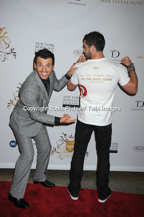 Tony Dovolani and Maksim Chmerkovskiy attending The Dance With Me Studios Presents All The Right Moves Summer Invitational Competition on June 5, 2011 at Manhattan Center in New York City. ..
