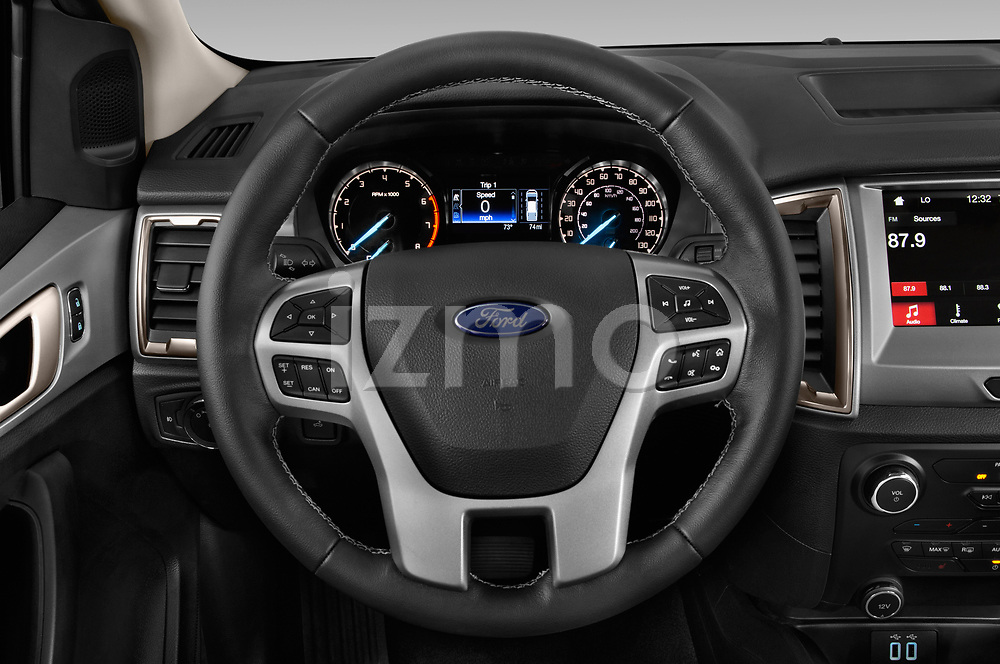 Car pictures of steering wheel view of a 2019 Ford Ranger XLT 4 Door Pick-up Steering Wheel