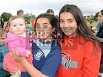 Ellie Murphy, Abbie and Aisling McCarton Smith at the 10th anniversary celebrations of McArdle Green estate in Moneymore. Photo:Colin Bell/pressphotos.ie