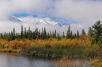 Autumn colors at Vermillion Lake in Banff National Park