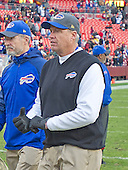 Buffalo Bills head coach Rex Ryan (in black vest) leaves the field after his team's game against the Washington Redskins at FedEx Field in Landover, Maryland on Sunday, December 20, 2015.  The Redskins won the game 35-25.<br /> Credit: Ron Sachs / CNP