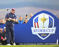 23 Sept 14 Fan favorite Phil Mickelson during the Tuesday Practice Round at The Ryder Cup at The Gleneagles Hotel in Perthshire, Scotland. (photo credit : kenneth e. dennis/kendennisphoto.com)