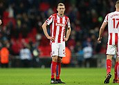 9th December 2017, Wembley Stadium, London England; EPL Premier League football, Tottenham Hotspur versus Stoke City; Darren Fletcher of Stoke City hands on hips in disappointed after the final whistle