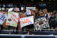 CHICAGO, IL - OCTOBER 06: Fans of the United States during their game versus Korea Republic at Soldier Field, on October 06, 2019 in Chicago, IL.