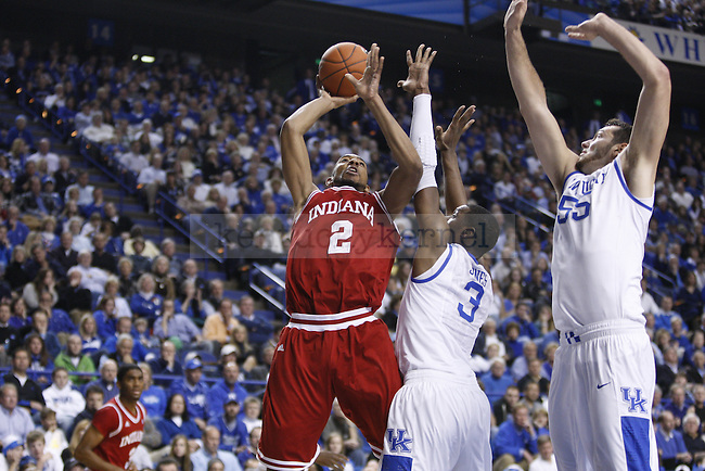 Indiana forward Christian Watford goes for a layup for two of his 18 points, during the second half of UK's home game against Indiana on Dec. 11, 2010. Photo by Brandon Goodwin | Staff