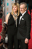 London, UK. 14 February 2016. Kate Capshaw and Steven Spielberg. Red carpet arrivals for the 69th EE British Academy Film Awards, BAFTAs, at the Royal Opera House. © Vibrant Pictures/Alamy Live News