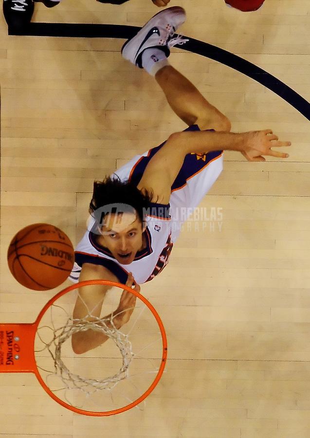 Jan. 22, 2010; Phoenix, AZ, USA; Phoenix Suns guard (13) Steve Nash takes a shot in the second half against Chicago Bulls at the US Airways Center. Chicago defeated Phoenix 115-104. Mandatory Credit: Mark J. Rebilas-