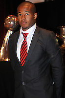 D.C. United defender Ethan White,at the United Kickoff luncheon, at the Marriott hotel in Washington DC, March 5, 2012.