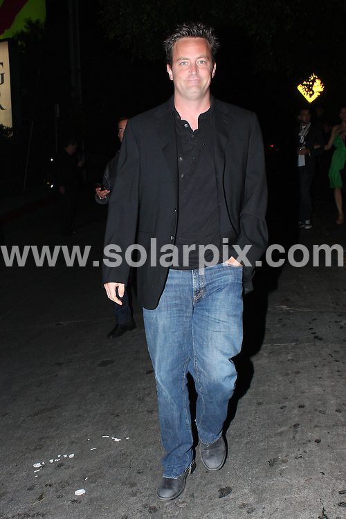 **ALL ROUND PICTURES FROM SOLARPIX.COM**.**WORLDWIDE SYNDICATION RIGHTS**.**NO PUBLICATION IN AUSTRALIA, NEW ZEALAND, DENMARK, GERMANY OR USA**.Friens star actor Matthew Perry attends post VMA party at Chateau Marmont in Hollywood USA..JOB REF: 7254           LAP/HD       DATE: 07.09.08.**MUST CREDIT SOLARPIX.COM OR DOUBLE FEE WILL BE CHARGED* *UNDER NO CIRCUMSTANCES IS THIS IMAGE TO BE REPRODUCED FOR ANY ONLINE EDITION WITHOUT PRIOR PERMISSION*