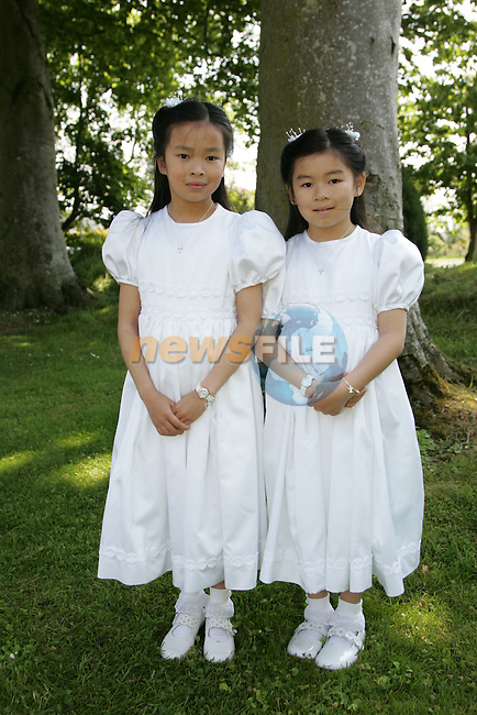 Lynn and Anna Victory at First Communion in Sandpit on Saturday