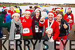 Tara Byrne, Bridget Moore, Clodagh Byrne, Vinny Moriarty, Daniel Moriarty and Sheila Moriarty,  pictured at the Santa 5k run which took place at Tralee Wetlands Centre on Sunday.