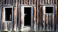 NWA Democrat-Gazette/DAVID GOTTSCHALK<br /> Logs placed vertically were used in the cabin located at Pulltite Spring on the Current River in southeast Missouri.