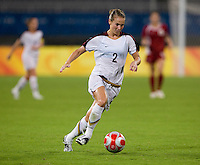 Heather Mitts. The USWNT defeated Canada in extra time, 2-1, during the 2008 Beijing Olympics in Shanghai, China.