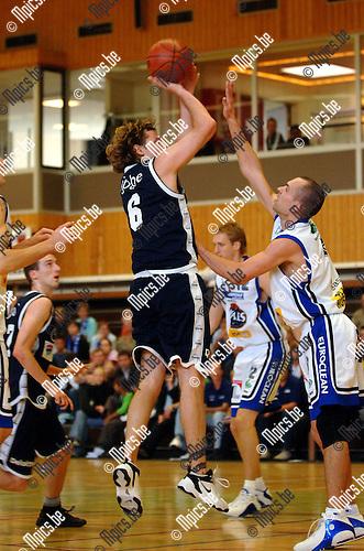 St-Jan - Aalst: Stefan Sappenberghs (St-Jan) met een shot.