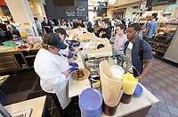 Sandwich station<br /> The Marketplace in the Johnson Student Center (JSC) on Jan. 24, 2019, maintained by Campus Dining.<br /> (Photo by Marc Campos, Occidental College Photographer)
