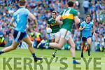 Ciaran Kilkenny, Dublin in action against David Moran, Kerry during the GAA Football All-Ireland Senior Championship Final match between Kerry and Dublin at Croke Park in Dublin on Sunday.