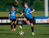Kansas City, MO - Sunday July 02, 2017:  Becca Moros controls the ball during a regular season National Women's Soccer League (NWSL) match between FC Kansas City and the Houston Dash at Children's Mercy Victory Field.