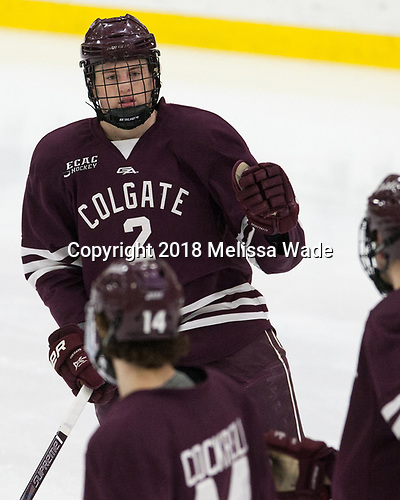 Paul Meyer (Colgate - 2) - The visiting Colgate University Raiders shut out the Harvard University Crimson for a 2-0 win on Saturday, January 27, 2018, at Bright-Landry Hockey Center in Boston, Massachusetts.