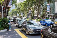 Singapore, Orchard Road Traffic Street Scene.