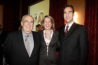 Bernard Poirie, Charirman of the board (L), ANDREA C. MARTIN, PRESIDENT AND CHIEF EXECUTIVE OFFICER OF  READER'S DIGEST ASSOCIATION (M)<br /> Pierre Dion, President and CEO, Groupe TVA (R) AT THE CANADIAN CLUB OF MONTREAL'S  Monday, October 30, 2006 <br /> <br /> photo : (c)  Images Distribution