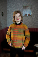 A portrait of student Alexej in his grandmother's flat in the city of Vladivostok.