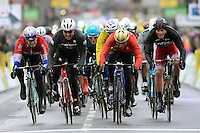 COLBRELLI Sony (ITA) Rider of UAE Abu Dhabi Team beats DEGENKOLB John (GER) Rider of Trek - Segafredo, DEMARE Arnaud (FRA) Rider of FDJ, GROENEWEGEN Dylan (NED) Rider of Team Lotto NL - Jumbo and LAPORTE Christophe (FRA) Rider of Cofidis <br /> seconda tappa della Parigi Nizza.   <br /> Foto Nico Vereecken/Photo News / Panoramic/Insidefoto <br /> ITALY ONLY