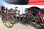 UAE Emirates team Colnago C60 bikes at the team bus before the start of Gent-Wevelgem in Flanders Fields 2017, running 249km from Denieze to Wevelgem, Flanders, Belgium. 26th March 2017.<br /> Picture: Eoin Clarke | Cyclefile<br /> <br /> <br /> All photos usage must carry mandatory copyright credit (&copy; Cyclefile | Eoin Clarke)