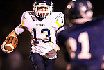 HARTFORD, SD - NOVEMBER 4: Cooper Hansen #13 from Tea Area looks for room against West Central in the first quarter of their 11A quarterfinal game Monday night in Hartford. (Photo by Dave Eggen/Inertia)