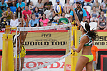 30.05.2015, Moskau, Vodny Stadion<br /> Moskau Grand Slam, Main Draw / Halbfinale<br /> <br /> Angriff Talita Antunes (#2 BRA)<br /> <br />   Foto © nordphoto / Kurth