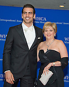 Model Nyle DiMarco, left, and Galludet University President Roberta J. Cordano arrive for the 2016 White House Correspondents Association Annual Dinner at the Washington Hilton Hotel on Saturday, April 30, 2016.<br /> Credit: Ron Sachs / CNP<br /> (RESTRICTION: NO New York or New Jersey Newspapers or newspapers within a 75 mile radius of New York City)