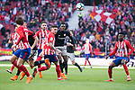 Atletico de Madrid Saul Niguez, Sime Vrsaljko, Jose Maria Gimenez and Thomas Teye and Athletic Club Inaki Williams during La Liga match between Atletico de Madrid and Athletic Club and Wanda Metropolitano in Madrid , Spain. February 18, 2018. (ALTERPHOTOS/Borja B.Hojas)