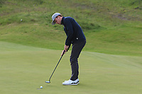 RJ Manke (USA) on the 4th green during Round 1 of the The Amateur Championship 2019 at The Island Golf Club, Co. Dublin on Monday 17th June 2019.<br /> Picture:  Thos Caffrey / Golffile<br /> <br /> All photo usage must carry mandatory copyright credit (© Golffile | Thos Caffrey)