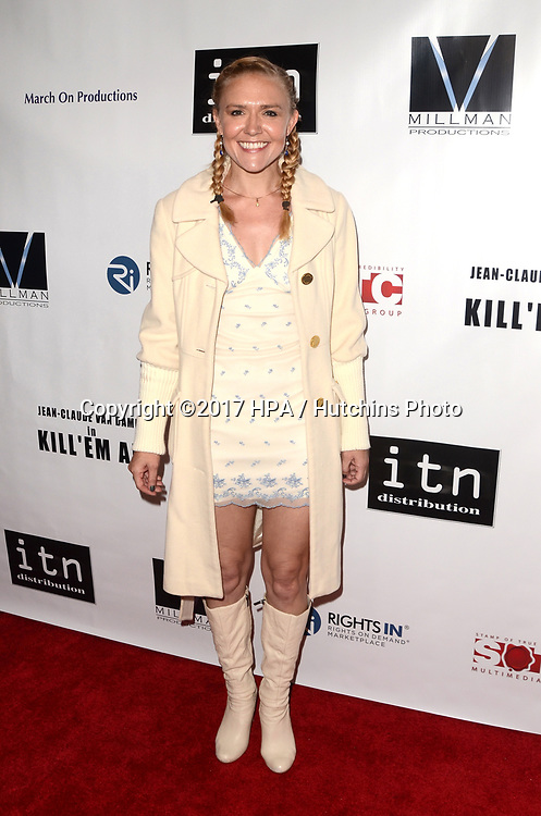 "LOS ANGELES - JUN 6:  Dominique Swain at the ""Kill 'Em All"" Premiere at the Harmony Gold Theater on June 6, 2017 in Los Angeles, CA"