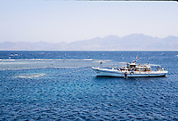 Dive boat in the Red Sea, Egypt