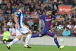 Luis Suarez in action ,9th September 2017, Camp Nou, Barcelona, Spain; La Liga football, Barcelona versus Espanyol;