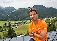 Austria, Kitzbuhel, Juli 14, 2015, Tennis, Davis Cup, Jean-Julien Rojer (NED) <br /> Photo: Tennisimages/Henk Koster