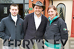 Pictured at the Kerry County Hunt club hunt which started at Darby O'Gills, Killarney on Sunday morning were Chris Morris, Kevin Culloty and Christine McCarthy.....................