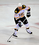 22 November 2008: Boston Bruins' right wing forward Michael Ryder in action during the third period against the Montreal Canadiens at the Bell Centre in Montreal, Quebec, Canada.  After a 2-2 regulation tie and a non-scoring 5-minute overtime period, the Boston Bruins scored the lone shootout goal thus defeating the Canadiens 3-2. The Canadiens, celebrating their 100th season, honored former Montreal goaltender Patrick Roy, and retired his jersey (Number 33) during pre-game ceremonies. ***** Editorial Use Only *****..Mandatory Photo Credit: Ed Wolfstein Photo *** Editorial Sales through Icon Sports Media *** www.iconsportsmedia.com