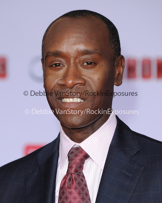 Don Cheadle at The World Premiere of Marvel's Iron Man 3 held at The El CapitanTheatre in Hollywood, California on April 24,2013                                                                   Copyright 2013 Hollywood Press Agency