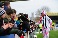 Lincoln City fan Steve Orient and Grimsby Town fan James Whaley thank the fans for the support of their fundraising challenges, raising money for Demi Knight's cancer treatment<br /> <br /> Photographer Chris Vaughan/CameraSport<br /> <br /> The EFL Sky Bet League Two - Lincoln City v Grimsby Town - Saturday 19 January 2019 - Sincil Bank - Lincoln<br /> <br /> World Copyright © 2019 CameraSport. All rights reserved. 43 Linden Ave. Countesthorpe. Leicester. England. LE8 5PG - Tel: +44 (0) 116 277 4147 - admin@camerasport.com - www.camerasport.com