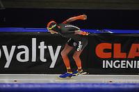 SCHAATSEN: HEERENVEEN; 11-10-2014, IJstadion Thialf, KNSB Trainingswedstrijd, Jouke Hoogeveen, ©foto Martin de Jong
