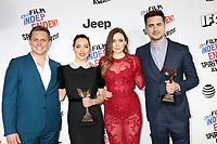 LOS ANGELES - MAR 3:  Billy Magnussen, Aubrey Plaza, Elizabeth Olsen, Matt Spicer_ at the 2018 Film Independent Spirit Awards at the Beach on March 3, 2018 in Santa Monica, CA