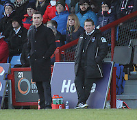 Ross County Manager Jim McIntyre (left) and Assistant Manager Billy Dodds look on in the Ross County v St Mirren Scottish Professional Football League match played at the Global Energy Stadium, Dingwall on 17.1.15.