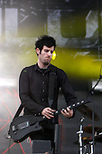 Pendulum - keyboard and  guitarist Ben Swire performing live on Day Three on the Apollo Stage at the Sonisphere Festival Knebworth UK - 01 Aug 2010.  Photo credit: Zaine Lewis/IconicPix