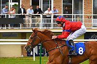 Winner of The Smith & Williamson Fillies' Novice Stakes (Div 2) La Lune ridden by Charles Bishop and trained by Henry Candy  during Afternoon Racing at Salisbury Racecourse on 16th May 2019